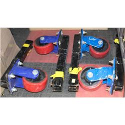 4 HEAVY DUTY SEA CAN /STORAGE CONTAINER DOLLIES
