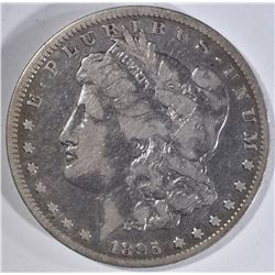 1895-O MORGAN DOLLAR, VF NICE ORIGINAL