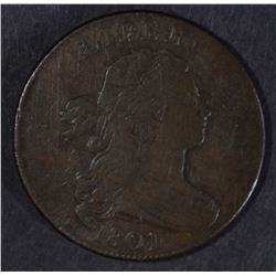 1801 LARGE CENT, FINE few marks