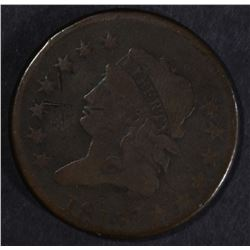 1813 LARGE CENT, VG few marks