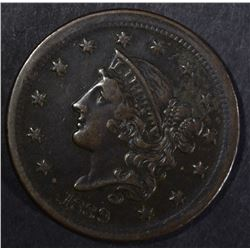 1839 LARGE CENT, XF/AU
