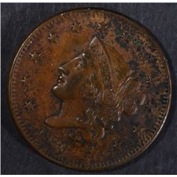 1836 LARGE CENT, XF/AU