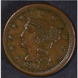 1846 LARGE CENT, XF