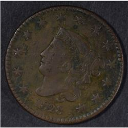 1828 LARGE CENT, XF