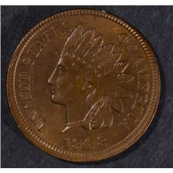 1908 INDIAN CENT, GEM BU
