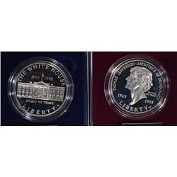 1992 WHITE HOUSE PROOF SILVER $1 and