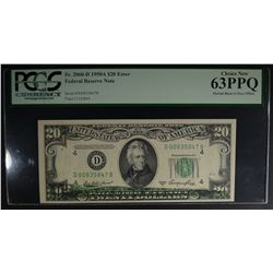 1950 A $20 FEDERAL RESERVE NOTE  PCGS 63PPQ