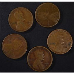 5 - 1915-S LINCOLN CENTS F/VF