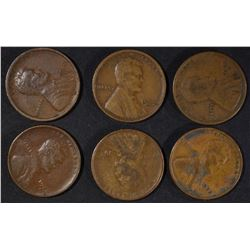6 - 1922-D LINCOLN CENTS G/FINE