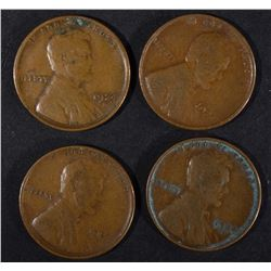 4 - 1924-D LINCOLN CENTS VF
