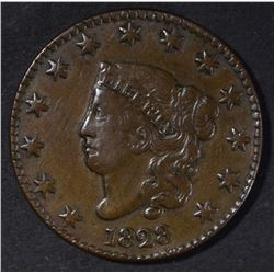 1828 LG DATE LARGE CENT XF