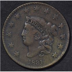 1831 LARGE CENT VF