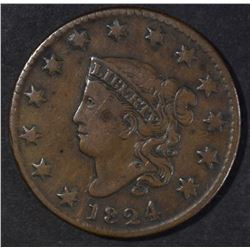 1824 LARGE CENT VF BETTER DATE