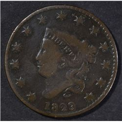 1823/2 LARGE CENT VG