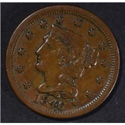 1846 LARGE CENT XF