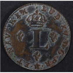 1742 FRENCH COLONIES COIN