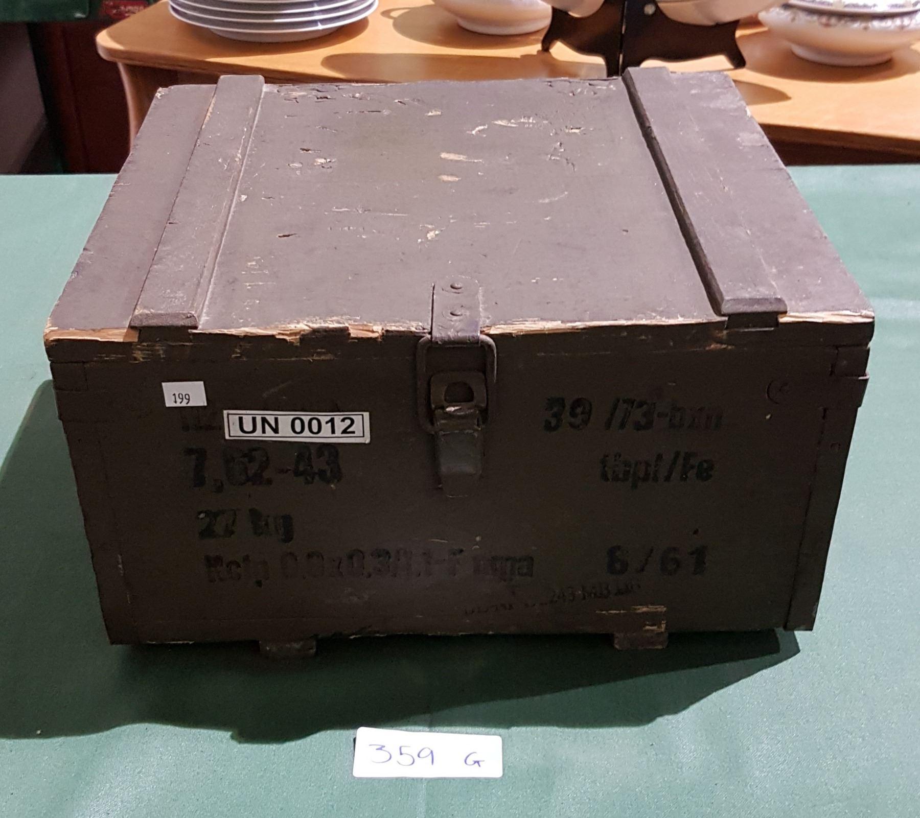 Vintage Wooden Nato Ammo Box