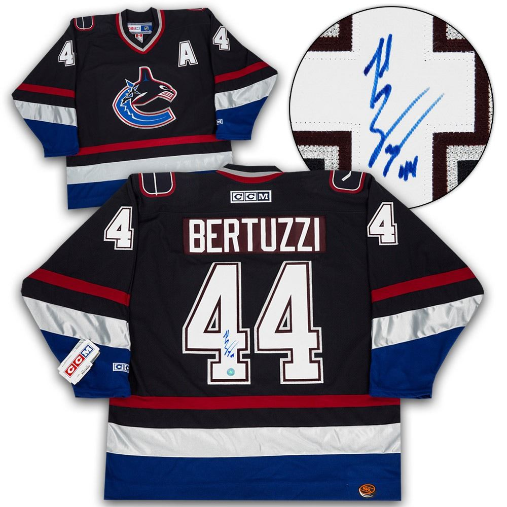 Todd Bertuzzi Vancouver Canucks Autographed Retro CCM Hockey Jersey