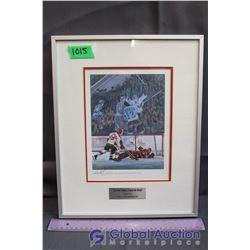 "Framed Paul Henderson Signed Print ""The Shot Heard Around the World"""