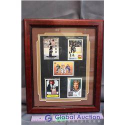 Framed Wayne Gretzky Special Awards Cards