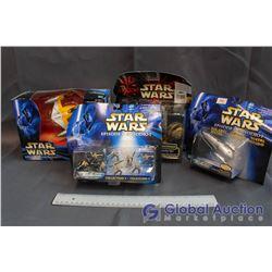 Lot of (4) Star Wars Episode I Toys