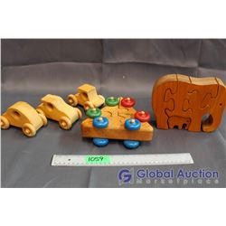 Wooden Puzzle Toys & Cars