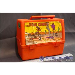 Vintage Road Runner Plastic Lunch Box w/Thermos