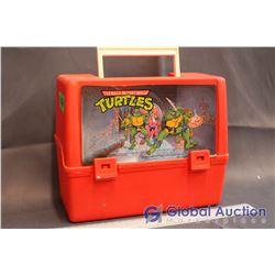 Vintage TMNT Plastic Lunch Box w/Thermos