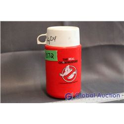Vintage Ghostbusters Plastic Thermos