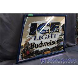 Ice Draft Light Budweiser Mirror Advertisement (27' x 21')