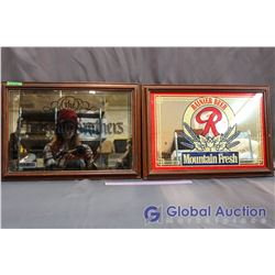 The Christian Brothers Brandy and Rainier Beer Framed Advertisements (20.5' x 14.5')