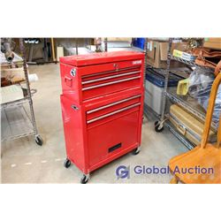 Red Craftsman Top And Bottom Metal Tool Cabinet
