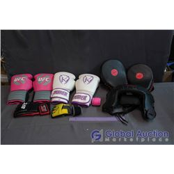 Lot of Boxing Gear - Gloves & Headgear