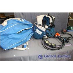 Bag of Scuba Gear - Hoses, Regulators, Guages, Weight Vest - Sherwood Scuba Branding