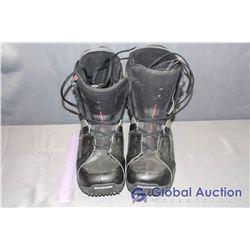 Salomon Black Snowboard Boots - Mondo 31.0, Size 13.5