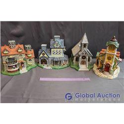 Partylite Old World Village Tea Light Holders (4)