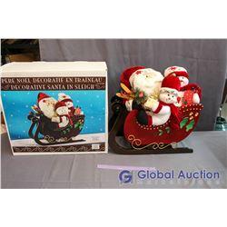 Decorative Santa in Sleigh w/Box