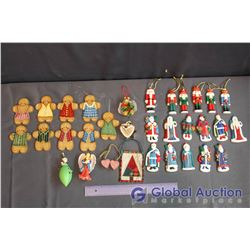 Lot of Hand Painted Christmas Tree Ornaments (32)