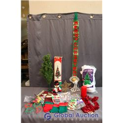 Large Lot of Various Christmas Items (Oven Mitts, Cookie Cutters, Decorations, etc)