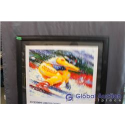 """Signed And Framed XV Olympic Winter Games Limited Edition Print, 34""""x31"""""""