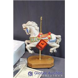 The Great American Carousel Hosre Statue With COA