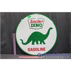 "Sinclair Dino Gasoline Reproduction Metal Sign (23"")"
