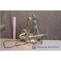 Decorative Metal Boat Lamp (Working)