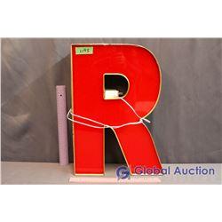 "Light Up ""R"" Sign"