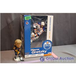"""Wayne Gretzky Limited Edition 12"""" Inch Action Figure & Wendell Clark Bobblehead"""
