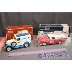 Die Cast Liberty 1957 Ford & Model Delivery Van Collector Banks
