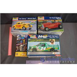 Car Model Kits - Chevy Race Truck, 39' Chevy, 32' Ford Highboy & 500 pc Puzzles
