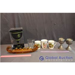 Lot of Misc Cups and Decor