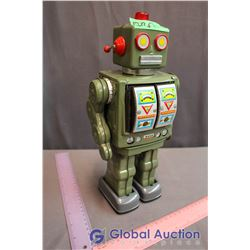 Vintage Tin Shooting Robot Toy