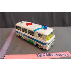 Vintage Tin Toy Friction Ambulance